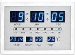 【スマートデジタルクロック】【ホワイト】時計 ...