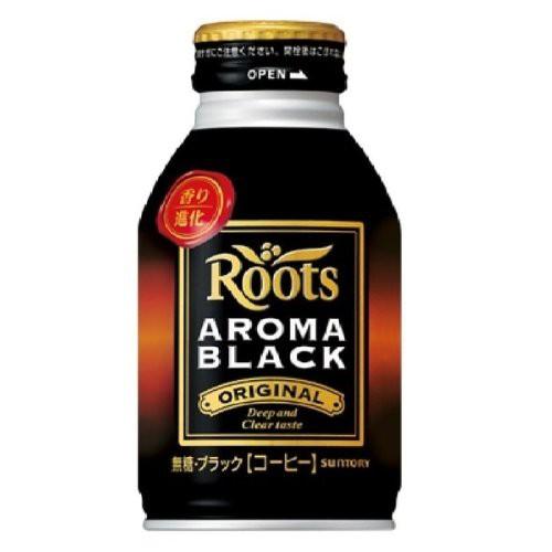 Roots ルーツ アロマブラック ボトル缶 285g×24...