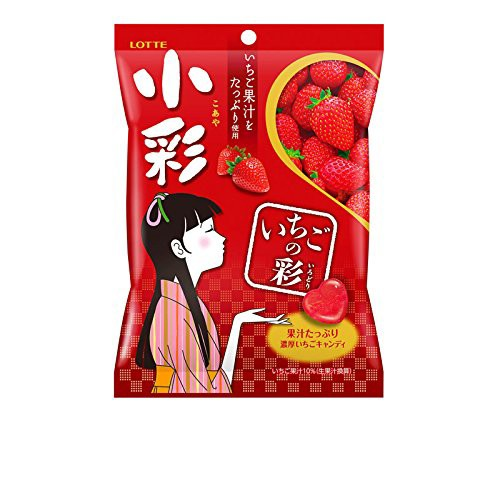 ロッテ 小彩(袋)(いちごの彩) 60g×10個