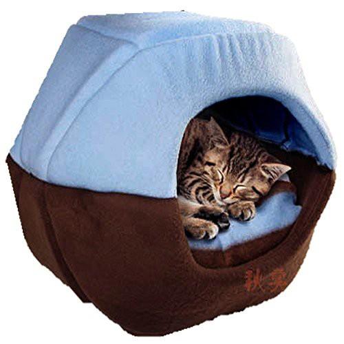 Beleciet  猫 ベッド ソファー 猫が喜ぶ あなぐら...