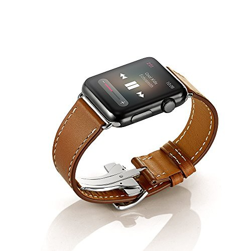 EloBeth Apple Watch バンド 本革ベルトレザー ス...