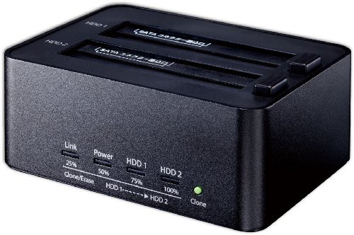 玄人志向 HDDスタンド PCレスでクローン/HDD内デ...