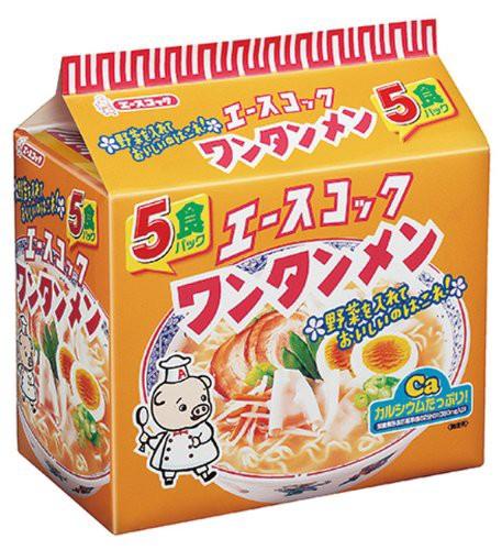エースコック ワンタンメン 5食×6個