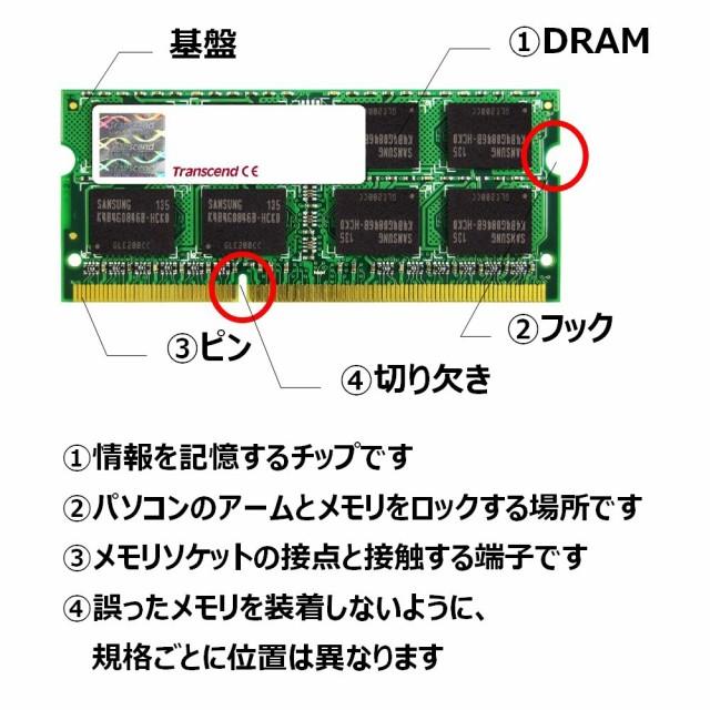 Transcend ノートPC用メモリ PC3-8500 DDR3 1066 ...