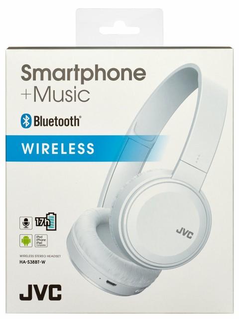 JVC HA-S38BT-W ワイヤレスヘッドホン Bluetooth...