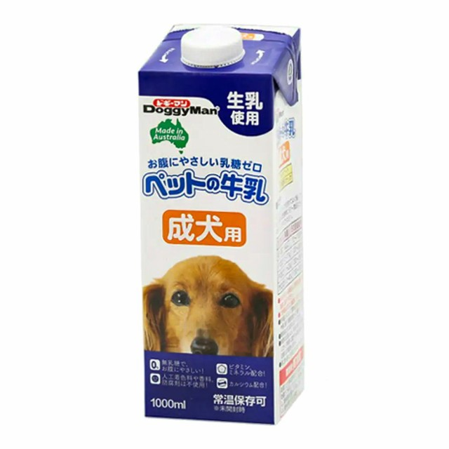 ドギーマン ペットの牛乳 成犬用 1L 犬 ミ...