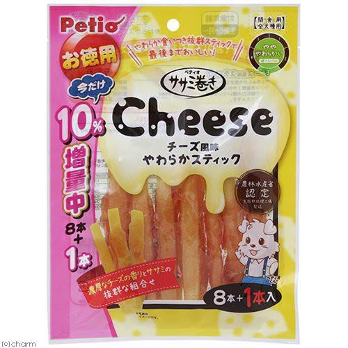 ペティオ ササミ巻き チーズ風味やわらかスティ...