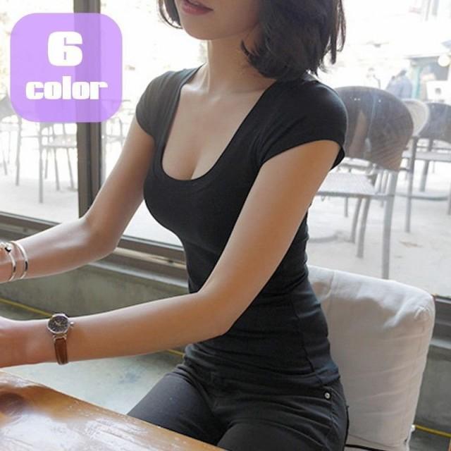 Tシャツ カットソー 半袖 レディース 女性用 トッ...