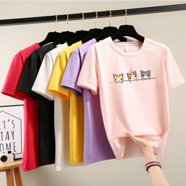 Tシャツ レディース 半袖 トップス ゆるTシャツ ...