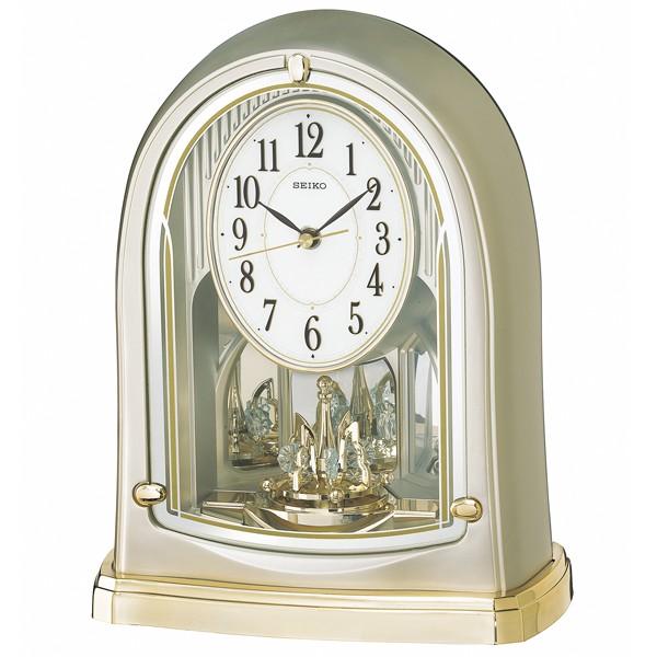 SEIKO セイコー 置き時計 電波 アナログ 回転飾り...