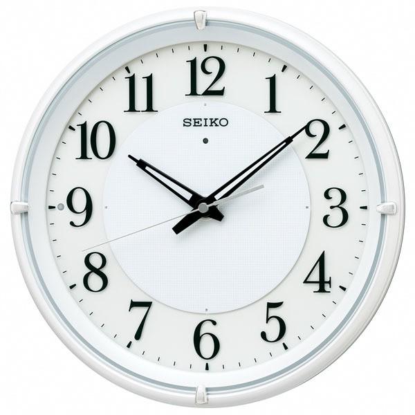 SEIKO セイコー 掛け時計 壁掛け 電波 夜でも見え...