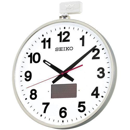SEIKO ソーラー 掛け時計 オフィス 屋外用 大型 ...