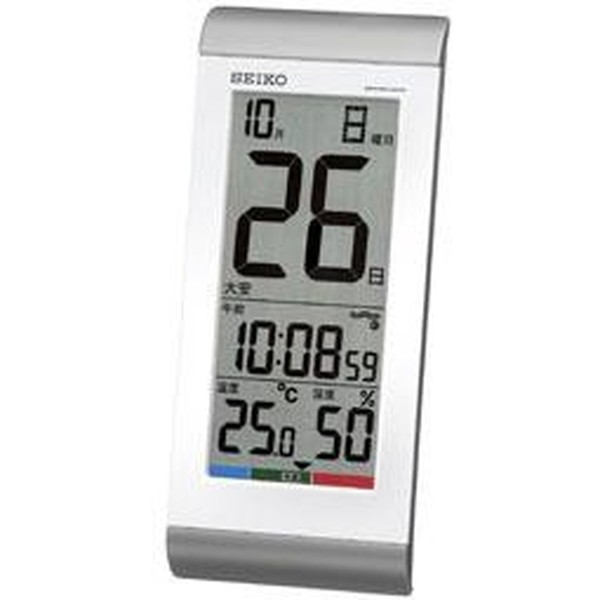 SEIKO セイコー 掛け時計 液晶表示付 置き時計 日...