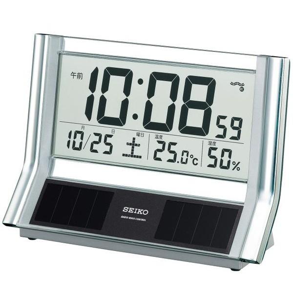 SEIKO セイコー 置き時計 ハイブリッドソーラー ...