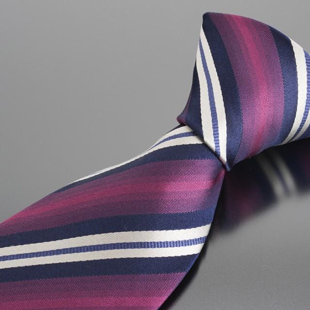 ヒロココシノ ネクタイ 赤系(レッド、紫がかった...