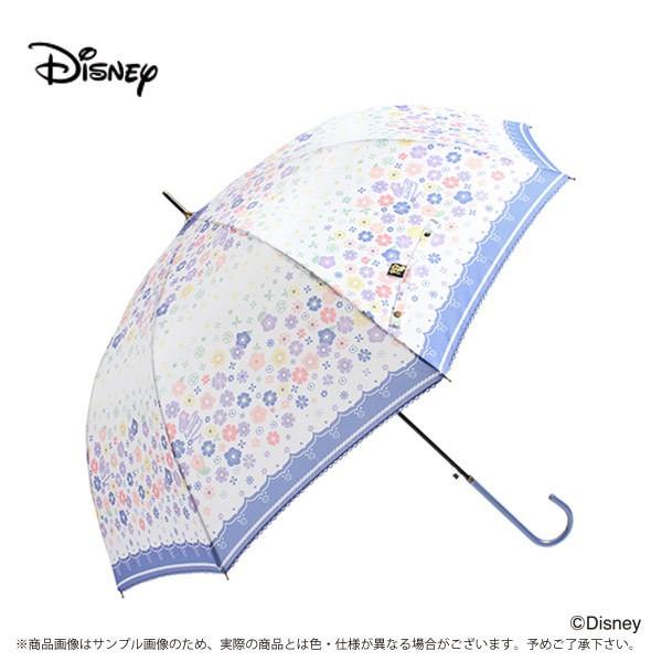 傘 レディース 雨傘 60ラプンツェル 花飾りディズ...