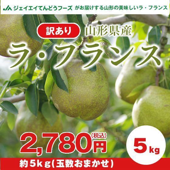 【訳あり】 山形県産 洋梨 ラ・フランス 約5kg ...