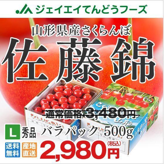 【ギフト・秀品】 さくらんぼ 佐藤錦 L玉 500g 山...