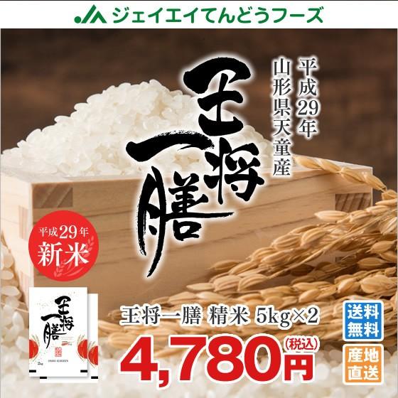 米 お米 山形県天童産 『王将一膳』 精米 10kg(5...