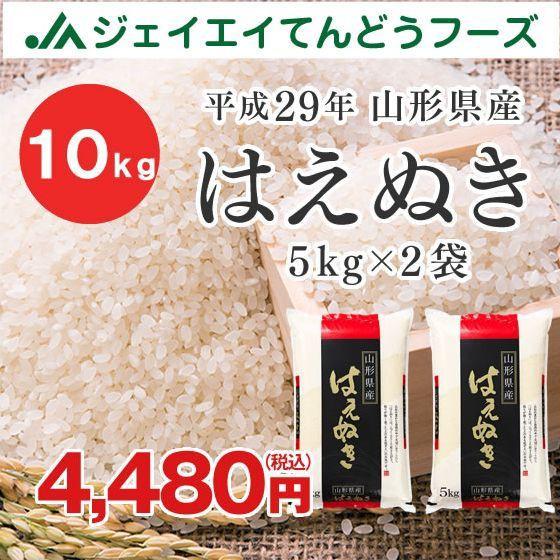 米 お米 山形県産 はえぬき 精米 10kg(5kg×2袋...