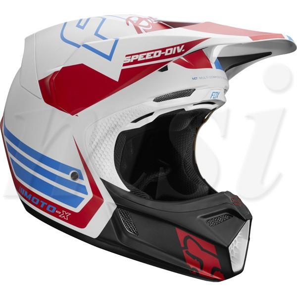 FOX フォックス 2018年 V3 SE ヘルメット RWT Red...