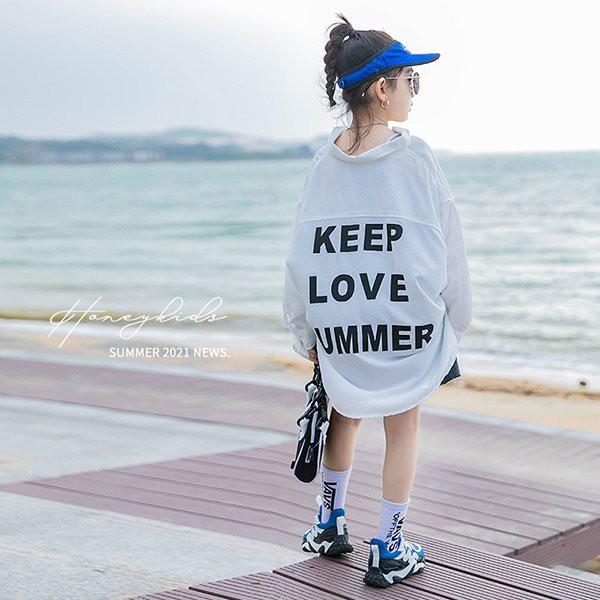 UVカット パーカー キッズ シャツ 子供服 女の子 春夏 長袖 紫外線対策 日焼け防止 薄手 ジップアップ ラッシュガード 羽織り 虫よけ 冷