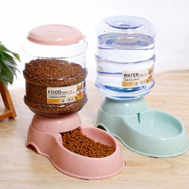 ペット用品 猫 犬用 自動給水器 給餌器 食器 水飲...