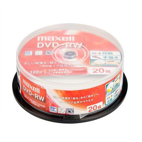 マクセル DW120WPA.20SP 録画用DVD-RW 標準120分 ...
