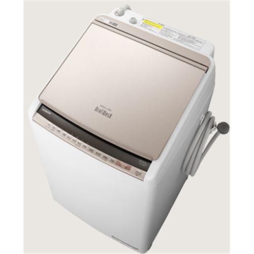 【無料長期保証】日立 BW-DV80E N 縦型洗濯乾燥機 (洗濯8.0kg /乾燥4.5kg) シャンパン