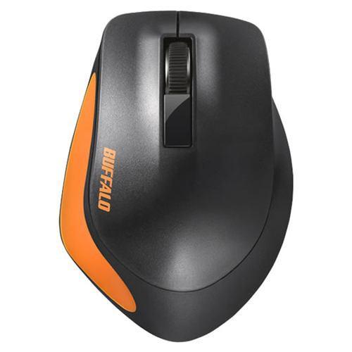 マウス バッファロー 無線 ワイヤレス BSMBW300MOR Premium Fitマウス無線/BlueLED光学式/静音/3ボタン/Mサイズ オレンジ