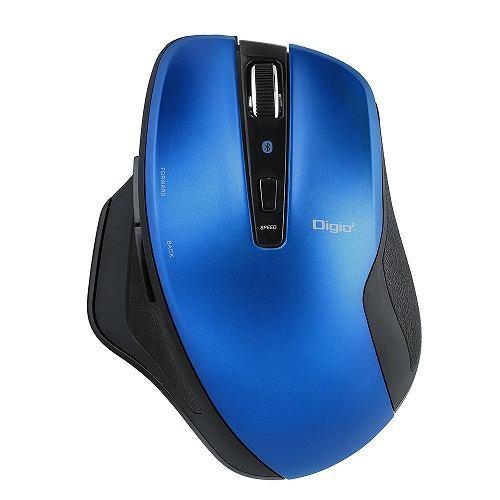ナカバヤシ MUS-BKF157BL Bluetooth静音5ボタンBlueLEDマウス   ブルー