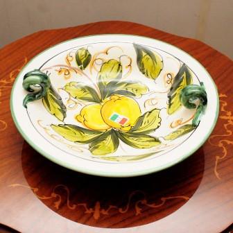 【イタリア製】 陶器 絵皿 ハンドペイント レ...