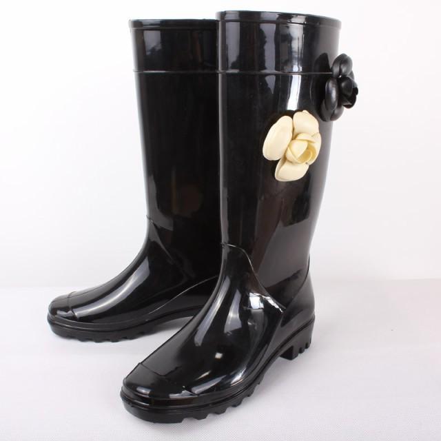 ロングブーツ レディース 雨靴 長靴 レインブーツ...