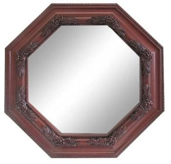 【壁掛け】ミラー 鏡 八角型(小) ≪アンティー...