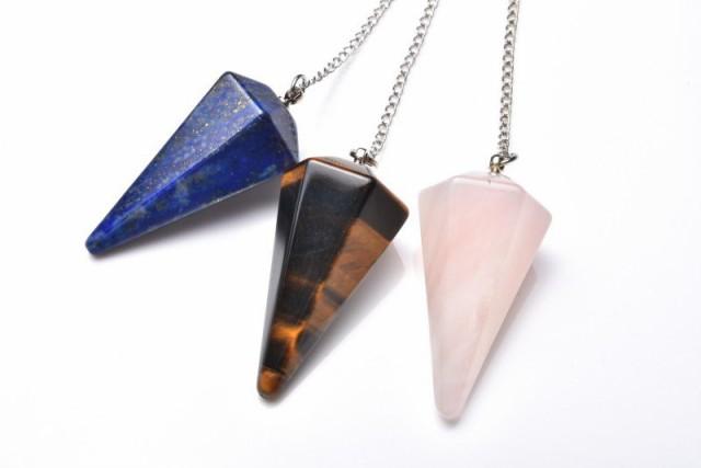 選べる20種類 天然石 ペンデュラム(振り子) ...