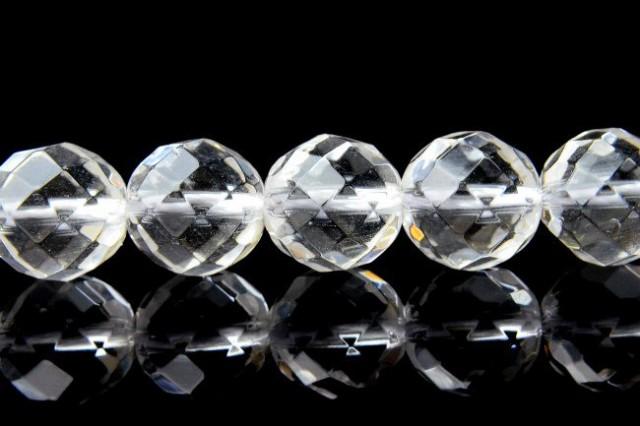 水晶64面カット 14mm 1連(約38cm)_R8/A7-4