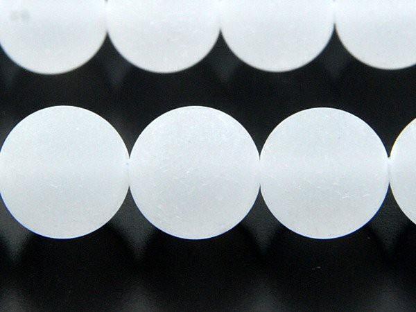 水晶 フロスト 8mm 1連(約38cm)_R941/A7-6