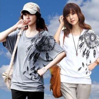 【6月下旬予約】ドルマンプリントTシャツ/チュニ...