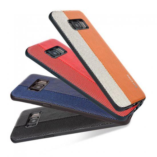 Samsung GALAXY S8+ レザーケース ツートンカラー...