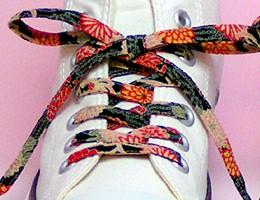 メール便 和柄靴ひも 柄多数ちりめん靴紐ロング ...