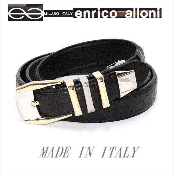 ENRICO ALLONI エンリコ・アローニ クロコ型押・...