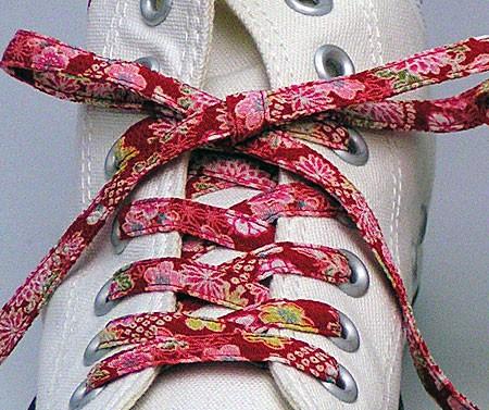 メール便 和柄靴ひも 柄多数ちりめん靴紐ノーマル...