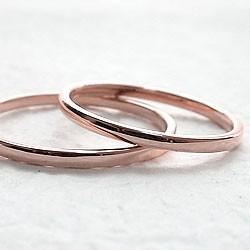 ペアリング 結婚指輪 マリッジリング ピンクゴー...