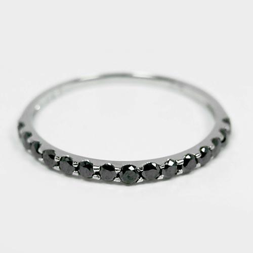 0.3ctブラックダイヤモンドエタニティ/プラチナリ...