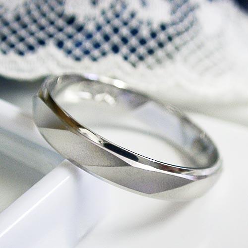結婚指輪 単品 プラチナ900 ツヤ消し マリッジ ...