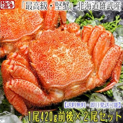 【送料無料】北海道 雄武産 【堅蟹】 毛ガニ 420g...