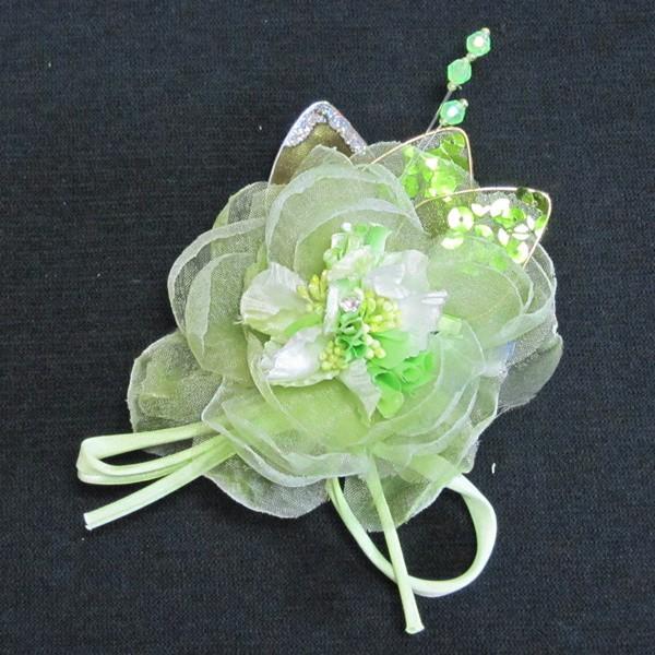 DCX033 グリーン系 浴衣・結婚式・花・入園式・...