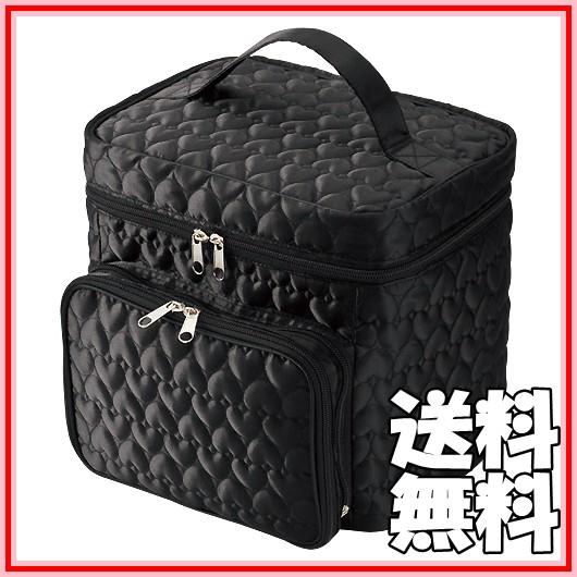 送料無料◆キルト コスメBOX ハート柄 メイク...