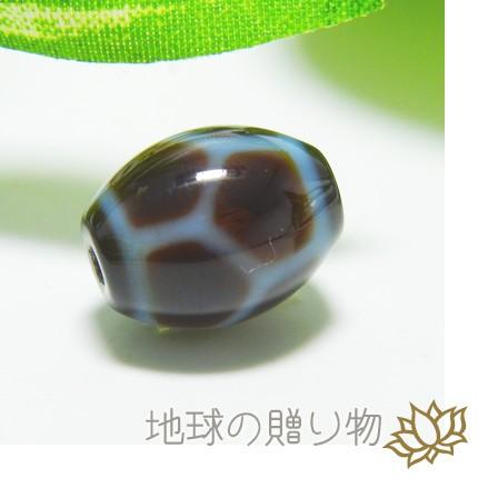 チベット西蔵霊石・至純天珠瑪瑙 13×10mm