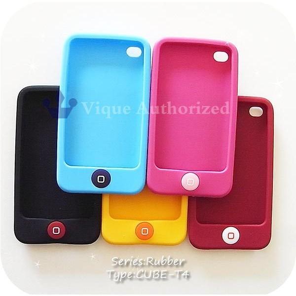 iPodtouch4ケースカバー ラバータイプCUBE-T4【iP...